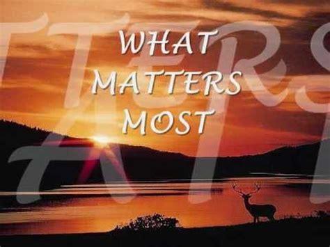 WHAT MATTERS MOST - Kenny Rankin (Lyrics) - YouTube