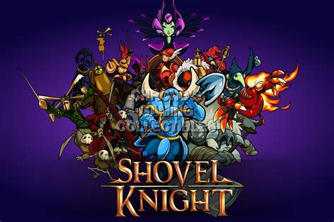 shovel knight video games poster cgcposters