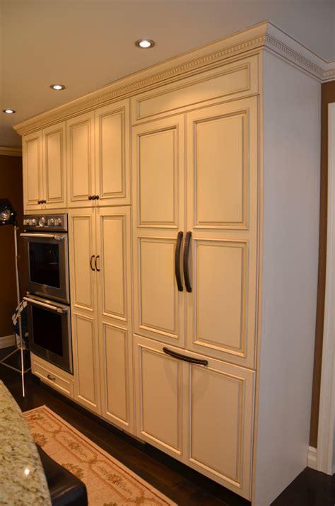 panel ready refrigerator decorative glazed cabinets marlboro nj by design line kitchens