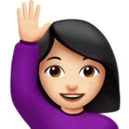 woman raising hand light skin tone emoji ufb uffb