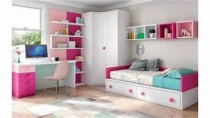 Chambre enfant fille bicolore fun et pratique glicerio for Tapis chambre enfant avec canapé 2 places inclinable