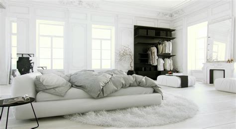 high bedding all white bedroom design ideas