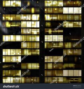 Seamless Texture Resembling Illuminated Windows Building ...