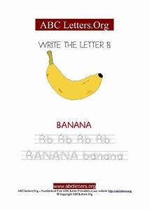 banana letter b picture writing worksheet abc letters org With banana letters
