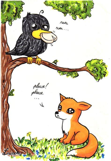 le corbeau  le renard  lissou drawing  deviantart