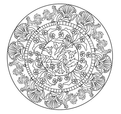 Jugendstil Kleurplaat by Mandalas Para Pintar Mandala Nouveau 0 Desen