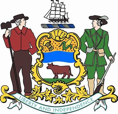 Delaware Arms Coat Assembly Svg State Seal