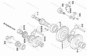 Arctic Cat Atv 2004 Oem Parts Diagram For Secondary Transmission Assembly