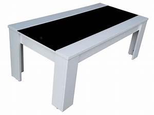 Table Basse Rectangulaire Blanche : table basse jackson coloris blanc noir vente de table basse conforama ~ Teatrodelosmanantiales.com Idées de Décoration