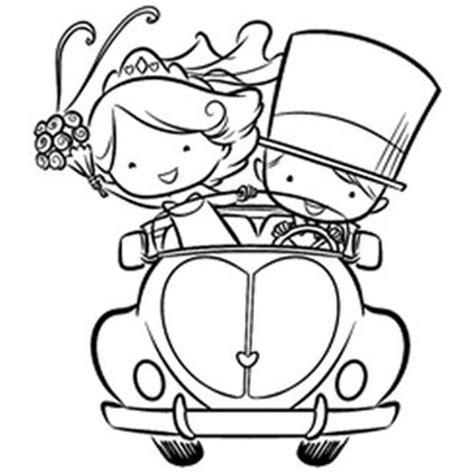 clipart sposi timbro macchina con sposi fronte timbri matrimonio