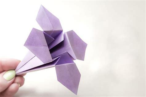 Origami Blume Falten  7 Ideen Mit Faltanleitung Für