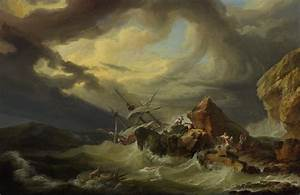File:Philippe Jacques de Loutherbourg A shipwreck off a