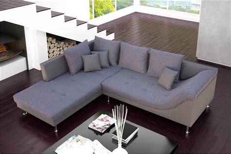 canapé d 39 angle design palma cuir pu et tissu design