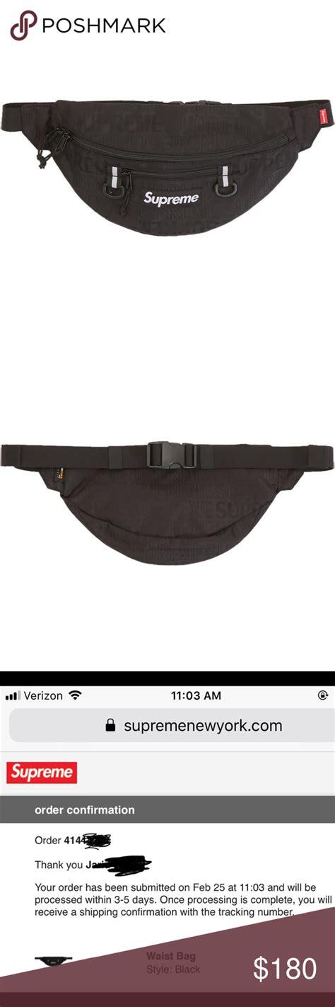sold out store supreme supreme black waist bag ss19 supreme waist bag ss19