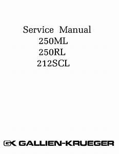 Gallien Kruger 250ml 250rl 212scl Service Manual Download