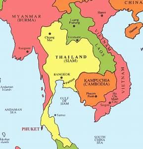 Cambodia Map Southeast Asia