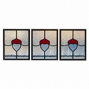 Simple Art Nouveau Stained Glass Panels - From Period Home ...