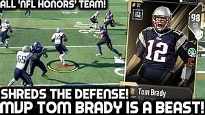 HONORS MVP TOM BRADY SHREDS THE DEFENSE! ALL NFL HONORS ...