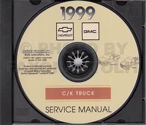1999 Chevy Silverado Gmc Sierra Ck Truck Early Edition