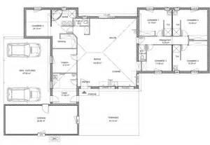 plan maison ossature bois plain pied gratuit plan maison ossature bois gratuit