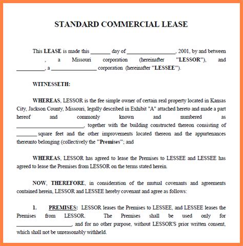 commercial lease with option to purchase template 3 commercial property lease agreement template purchase