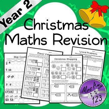 year 2 christmas maths revision australian curriculum