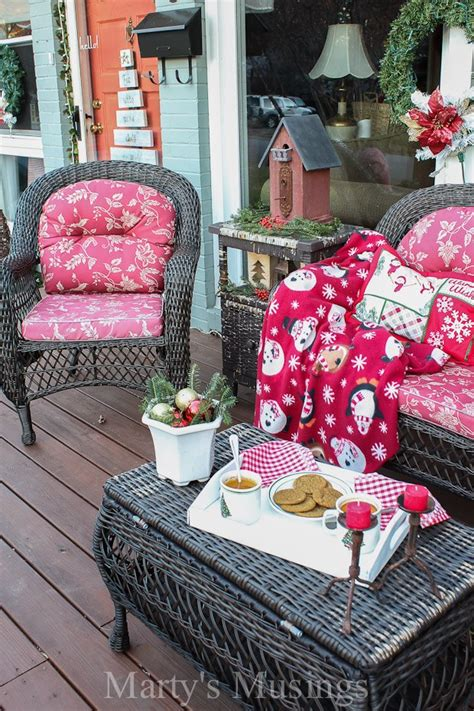 inexpensive deck decorating ideas  christmas