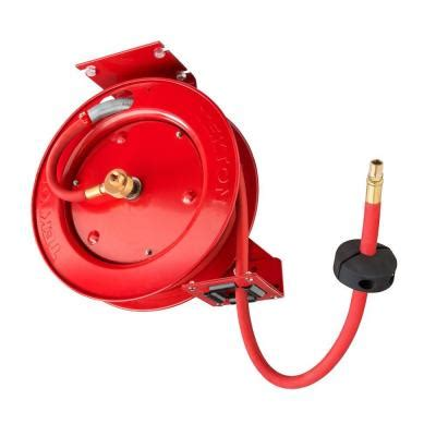 tekton retractable air hose reel with 3 8 in id by 25 ft