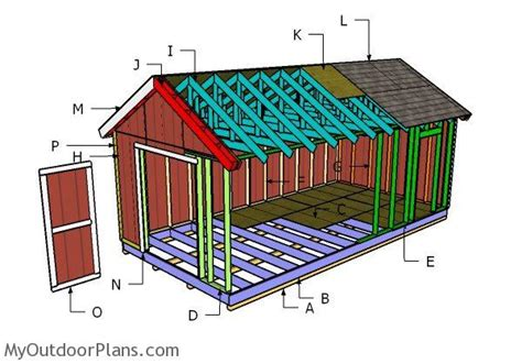 12x24 gable shed roof plans myoutdoorplans free