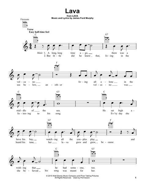 Lava  Sheet Music Direct