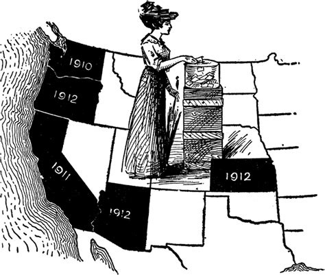 womens suffrage map clipart