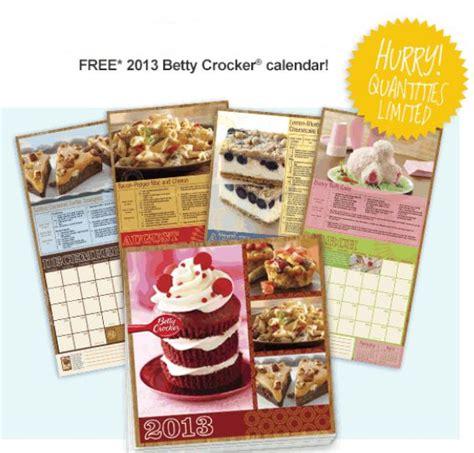 betty crocker recipe calendar life