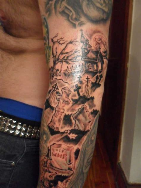 grave yard tattoo
