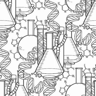 Chemistry Coloring Genetic Colorare Research Pattern Clip