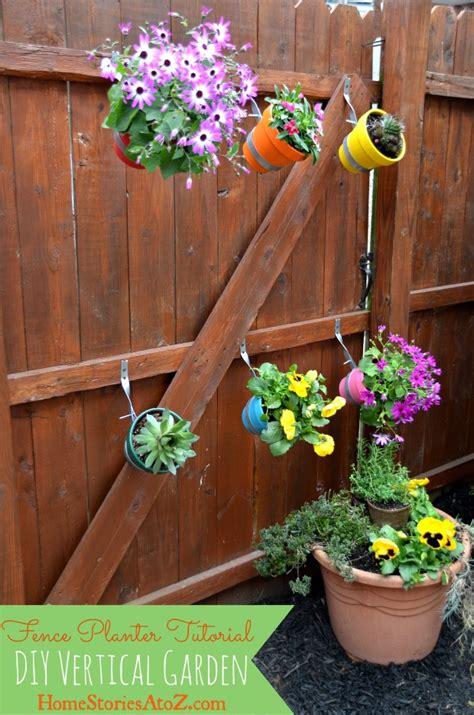 diy gardening urban garden do it yourself fence planter home stories a to z