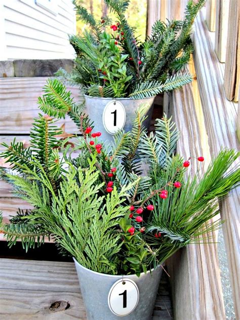 red berries and extra tree clippings for easy christmas