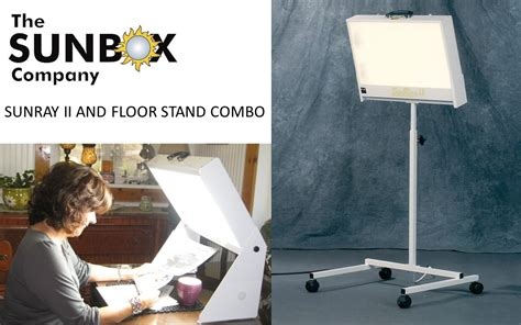 New SunRay II Floor Stand Combo- Bright Light Therapy