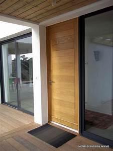 porte d39entree ustaritz porte d39entree bois anglet porte With porte d entrée alu avec salle de bain chene
