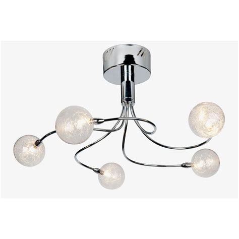 crackle chrome ceiling light at homebase co uk
