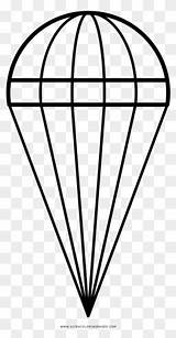 Parachute Drawing Coloring Clipartmag sketch template