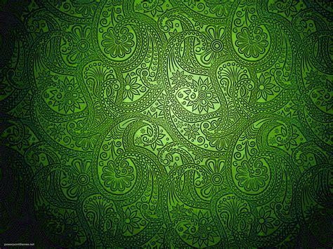 modern green batik background powerpoint themes