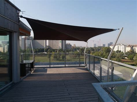Befestigung Sonnensegel Hauswand by Befestigung Sonnensegel Hauswand Garten Terrasse Balkon