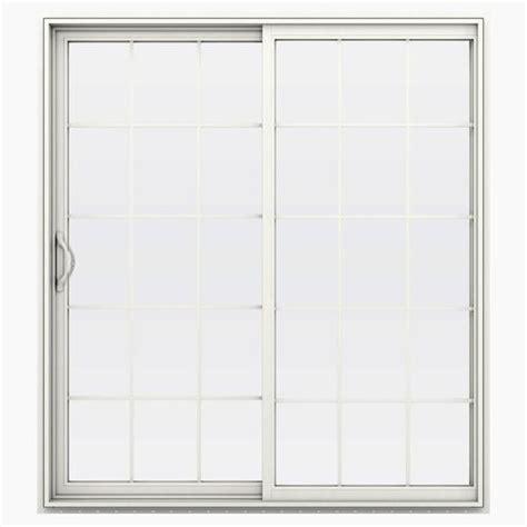 Jeld Wen Sliding Patio Doors Menards by Jeld Wen Builders Series 15 Lite Vinyl Left Sliding