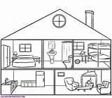 Coloring Rooms Parts Ausdrucken sketch template
