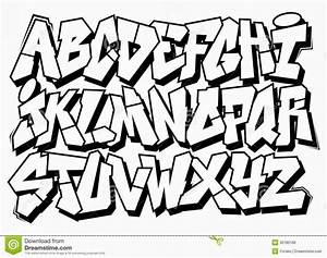 Alphabet Graffiti Block Style - Graffiti Art