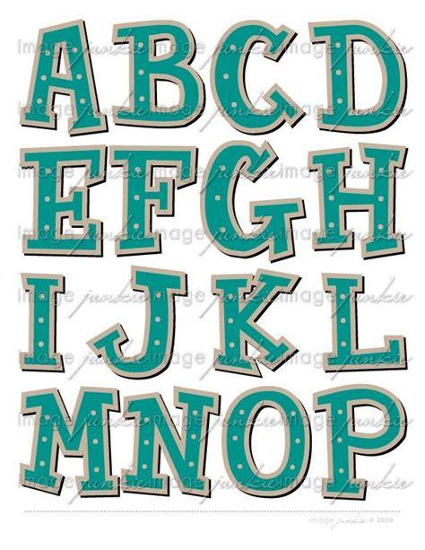 printable banners templates   alphabet cutouts