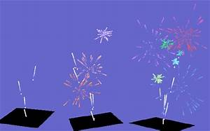 Three Frames Of The Firework Animation Generated Using Our