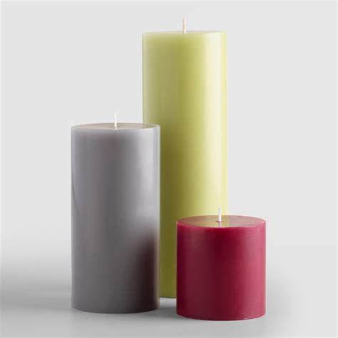 unscented pillar candles world market