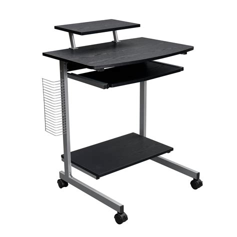 techni mobili compact computer cart with storage