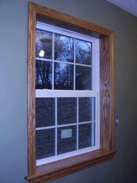 trim window vinyl windows oak wood interior casing sill door stained siding trims steel frames styles exterior replacement dark molding